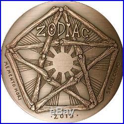COMPLETE SET OF 12 SkullCoins 2015 ZODIAC Memento Mori Series 1oz. 999 COPPER