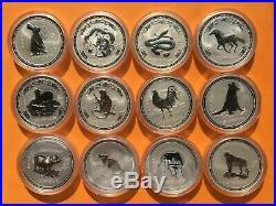 COMPLETE SET SERIES ONE Silver 1 oz Perth Mint Lunar Australia
