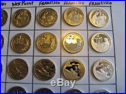 COMPLETE Set 2019 Quarters 30 COINS P, D, W, S, S Clad Proof, S. 999 Silver Proof