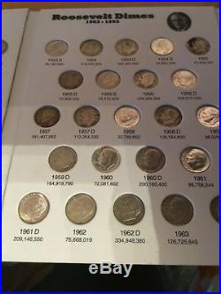 COMPLETE Set Silver/Clad Roos. Dimes 1946 2019 in Full Color EM Coin Folders
