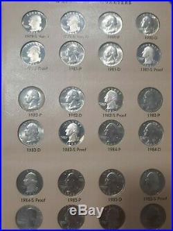 COMPLETE Set of 1932 1991 Washington Quarters Album BU/Proof 132 COINS