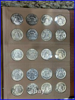 COMPLETE Uncirculated SET 1948-1963 FRANKLIN SILVER HALF DOLLARS 35 COINS