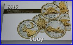 Canada 2015 Big Coins Series 5 OZ Silver Complete Set