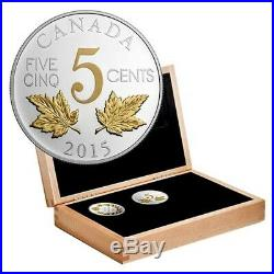 Canada 2016 Silver Gold Plated 6 Coin Complete Set Legacy of the Canadian Nickel