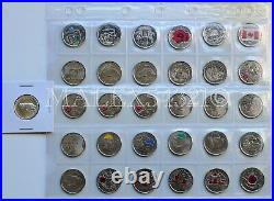 Canada Complete Commemorative 25 Cent Set 1967 To 2017 Uncirculated