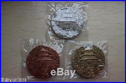 China 2017 35th Ann. Of China Panda Commemorative Medals Set (Complete 3 Medals)