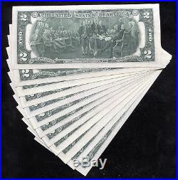 Complete (12) Note District Set Of 1976 $2 Star Frns Uncirculated