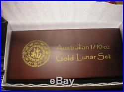 Complete 12 coin GOLD LUNAR SET Perth Mint