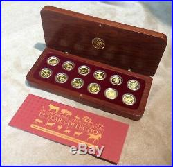 Complete 12 coin GOLD PROOF LUNAR SET Perth Mint