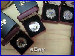 Complete 14 Coins Set Rare & Popular Canada Bird Series Mint Pack