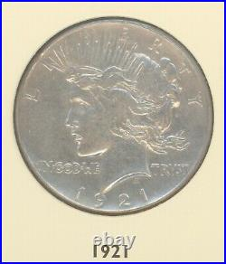 Complete 1921-1935 Peace Dollar 24-Coin Set (Silver) LITTLETON SET MOSTLY xf- BU