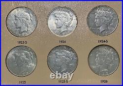 Complete 1921-1935 Peace Dollar 24-Coin Set in Dansco Album! WOW Bid & Get! Yay