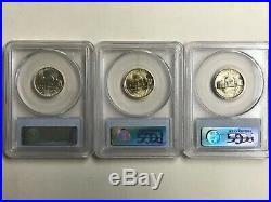 Complete 1942-1945 Pcgs Ms66 Jefferson Silver War Nickel Set (11 Coins)