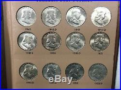 Complete 1948-1963 Franlkin Silver Half Dollar Set PDS Uncirculated Dansco Q1IB