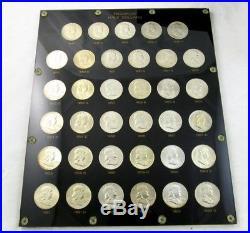 Complete 1948-63 Franklin Silver Half Dollar Set -BU/Some Gem- In Capital Holder