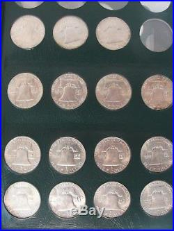 Complete 1948 Thru 1963 P, D, S Franklin Silver Half Dollar Unc Set NO PROOFS