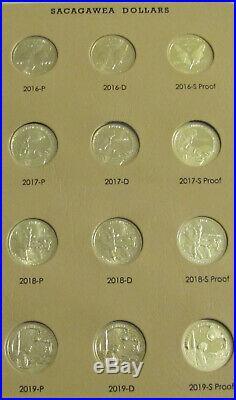 Complete 2000- 2020 PDS Sacagawea Set in Dansco 8183 63 Unc Bu Proof Coins