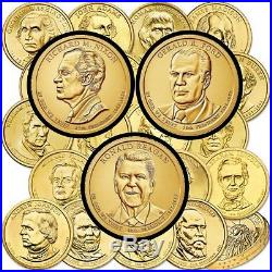 Complete 2007-2016 Set of President Dollar Coins (78), P & D Mint, Thru Reagan
