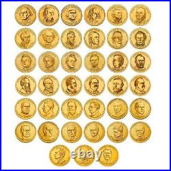 Complete 2007-2020 P Set of President One Dollar Coins (40) Mint Rolls Coins
