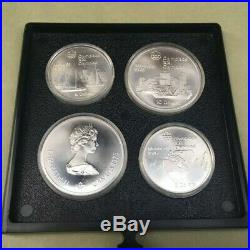 Complete 28 Coin 1976 Montreal Olympics Sterling Silver Set withBox and COA