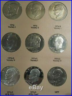 Complete 32 Coin Eisenhower IKE Set All Uncirculated and Proof Coins in Dansco