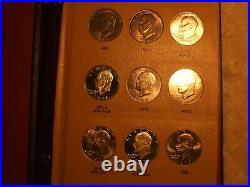 Complete 32 Piece Set Eisenhower Dollars 1971-1978 Bu In Pristine Dansco Album