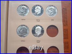 Complete 32-coin Eisenhower Dollar Set All Bu/proof/silver Dansco