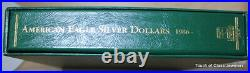 Complete 36 Coin American Silver Eagle Uncirculated Set in Littleton Album