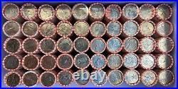 Complete 50 Rolls Set 1999-2008 Statehood Uncirculated Quarters in Bank Rolls