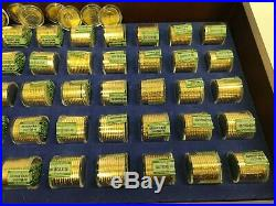Complete 520 Coins Danbury Mint Presidential Dollar Coin Set with Display Case