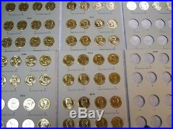 Complete 78 Coin Set (P&D) 2007-2016 Presidential Gold Dollars Washington-Reagan
