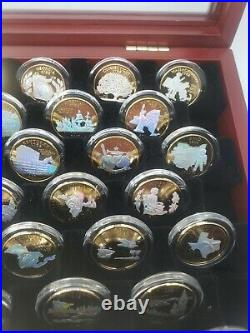 Complete BU Set 50 Holographic Gold-Plated U. S. State Quarters with Display Case