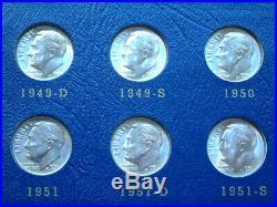 Complete Bu Silver Roosevelt Dime Set 1946 1964 Pds Blast White Coins