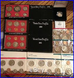 Complete Collection Susan B Dollars And Complete Mint Sets And Proof Sets