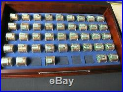 Complete Danbury Mint Presidential Dollar Coin Set withDisplay Case & 2 free rolls