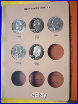 Complete Eisenhower Dollar Set Dansco 32 Coin Bu / Silver / Proof