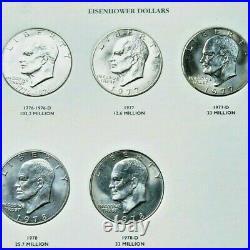 Complete Eisenhower and Susan B. Anthony Dollar album set