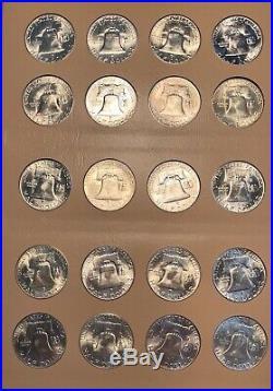 Complete Franklin Half Dollar Set. 1948 1963. 35 Coins Total