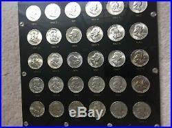 Complete Franklin Half Dollar Set. 1948 1963. 35 Coins Total. Capital Holder