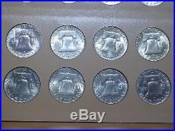Complete Franklin Half Dollar Set 1948-1963 BU 35 Brilliant Uncirculated Coins