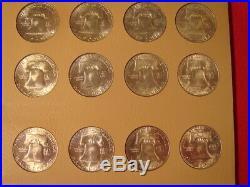 Complete Franklin Half Dollar Set 1948-1963 in Dansco Album Pages Choice BU