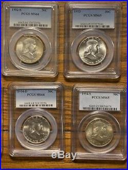 Complete Franklin Half Dollar Set All Professionally Graded. See Description
