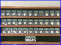 Complete Franklin Silver Half Dollar Set PCGS OGH Old Green Holders FBL