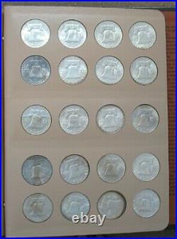 Complete Franklin Silver Half Set. 1948-1963 Gem Bu++ Many Full Bands