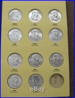 Complete Franklin Silver Half Set 1948 To 1963. Gem Bu