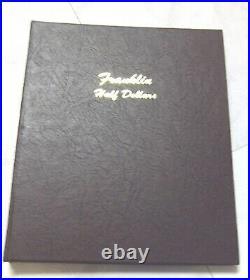Complete Gem Bu Set Franklin Half Dollars In Dansco Book Free Shipping