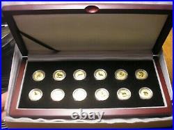 Complete Gold Lunar Series 1 SET 1/10 oz
