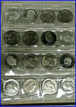 Complete Ike Eisenhower Dollar Set Collection 1971 1978 32 Total Coins