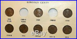 Complete Lincoln Wheat Cent Set-141 Coins- 1909-S VDB, 1922 No D #6161
