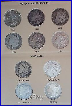 Complete Morgan Silver Dollar Date Set 1878 to 1921 32 Coins Unc